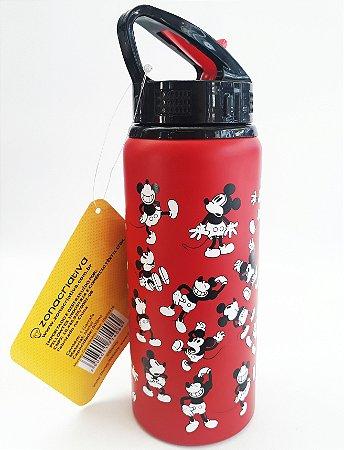 Squeeze de Metal 600ml Mickey Mouse Vermelho