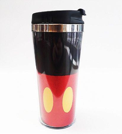 Copo Térmico 450ml Glitter Uniforme Mickey Mouse