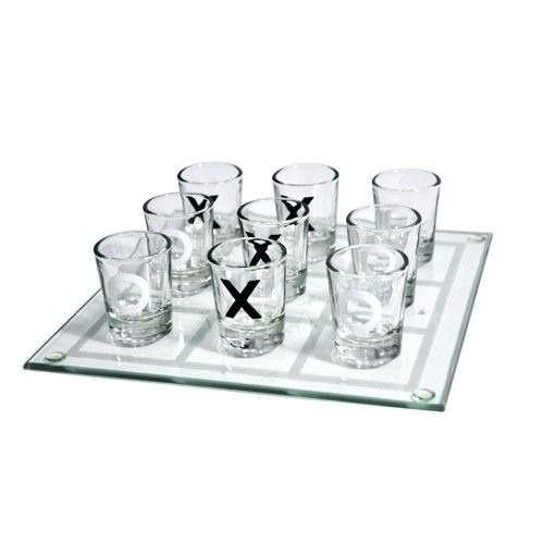 Jogo da Velha Drinking Shot 20cm c/ 9 Copos Shot