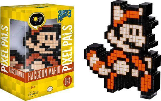 Luminária 8 Bit Pixel Pals Nintendo - Raccoon Mario