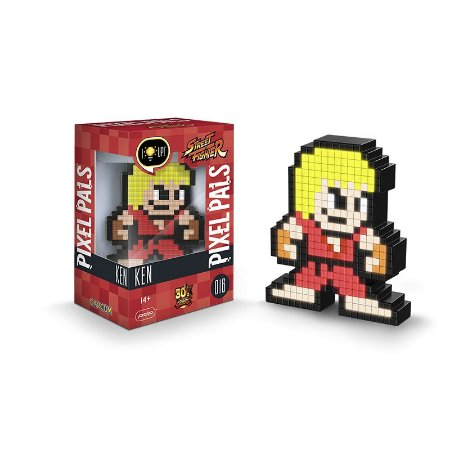 Luminária 8 Bit Pixel Pals Street Fighter - Ken
