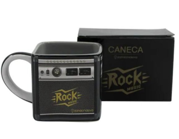 Caneca Quadrada 300ml Cubo Amplificador