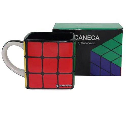 Caneca Quadrada 300ml Cubo Mágico Rubik's