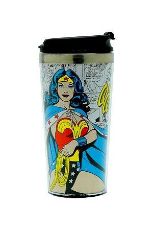Copo Térmico 500ml Quadrinhos Mulher Maravilha - DC Comics