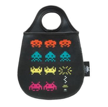 Lixeira para Carro Neoprene Gamer - Space Invaders