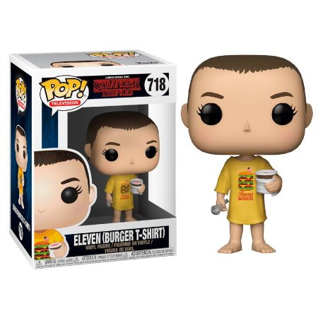 Boneco POP! Funko Stranger Things - Eleven Burger T-Shirt # 718