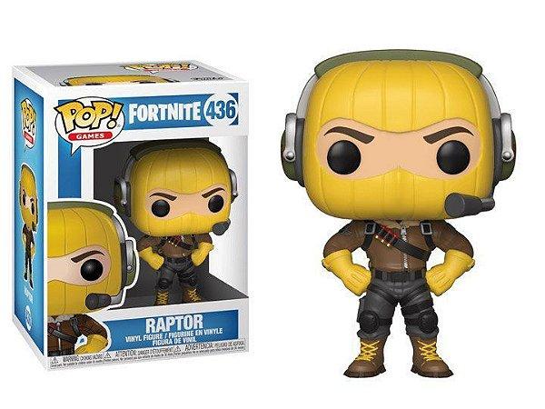Boneco POP! Funko Fortnite Raptor # 436