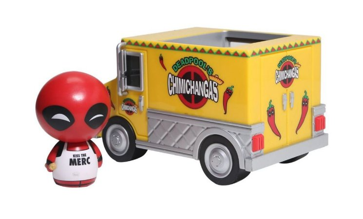Dorbz Marvel Deadpool with Chimichanga Truck # 16| Funko