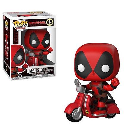 POP! Funko Marvel Rides: Deadpool on Scooter # 48