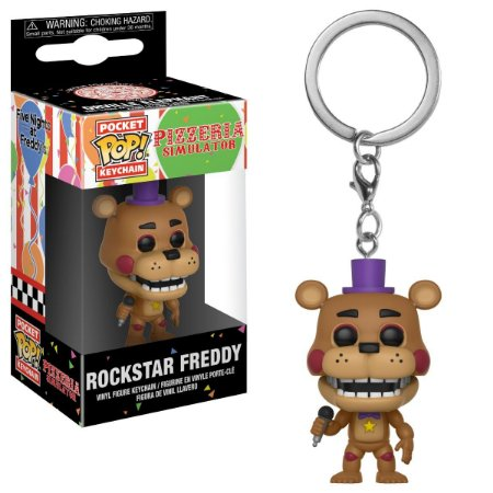Chaveiro Pocket POP! Funko Rock Star Freddy - FNAF