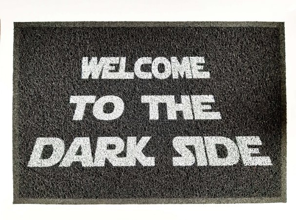 Capacho / Tapete PVC 60x40cm - Welcome to The Dark Side