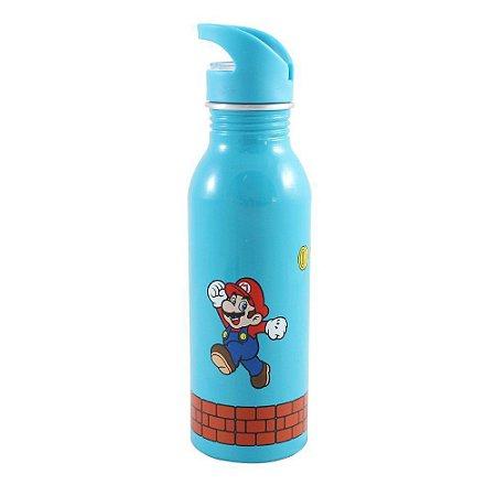 Squeeze de Alumínio 600ml Super Mario
