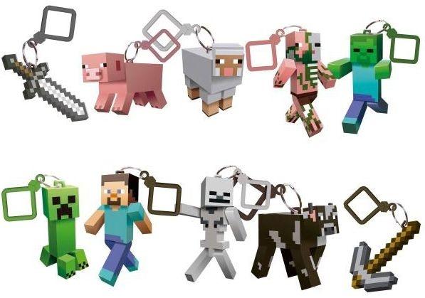 Chaveiro Minecraft Personagens - Embalagem Surpresa