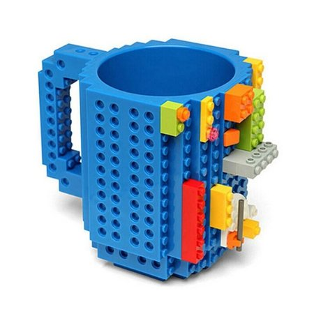 Caneca Bloco de Montar - Build on Brick Mug  - Azul