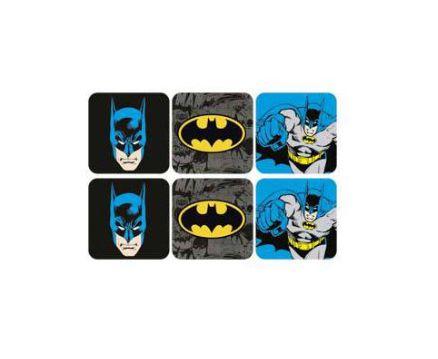 Conjunto c/ 6 Porta Copos Batman Comics e Logo - DC Comics