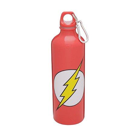 Garrafa Squeeze Aluminio Logo Flash - DC Comics
