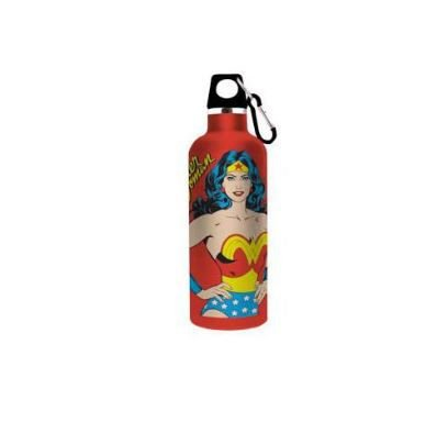 Garrafa / Squeeze Alumínio 750ml Mulher Maravilha Ilustração - DC Comics