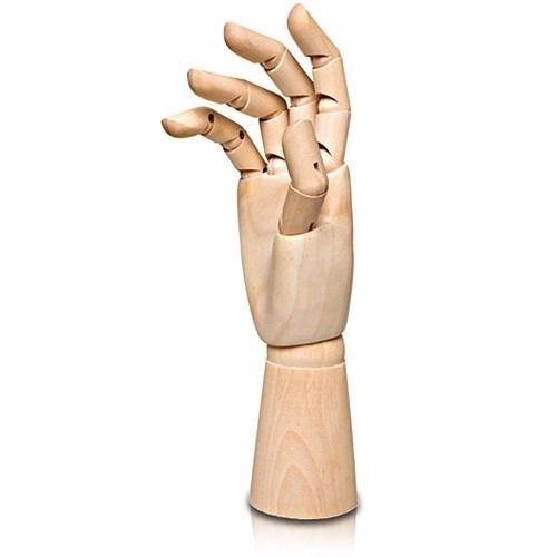 Manequim de Mão Articulado Madeira 30cm