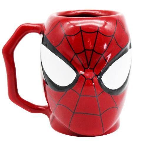 Caneca Porcelana 3D 400ml Marvel - Homem Aranha