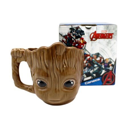 Caneca Porcelana 3D 400ml Marvel - Groot