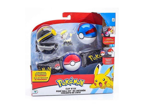 Conjunto Ação Pokémon Jangmo-o E Cinto Porta Pokebola DTC