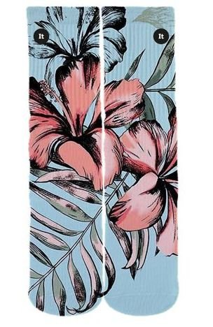Meia Floral Blue - ItSox