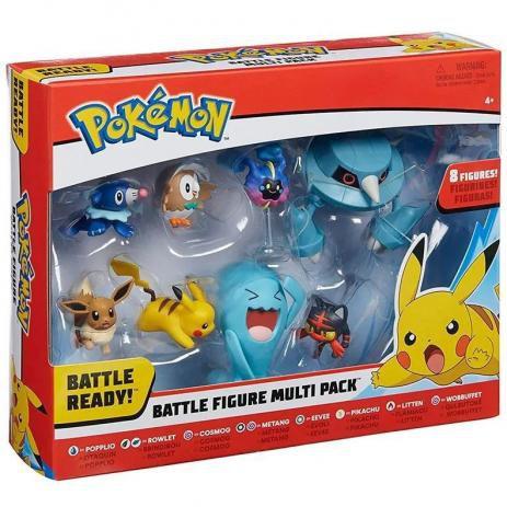 Pokémon - Conjunto com 8 Bonecos