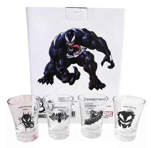 Kit Shot c/ 4 Copos 60ml Venom Marvel