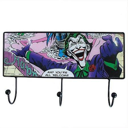 Cabideiro Vidro 3 Ganchos Coringa, Joker - DC Comics
