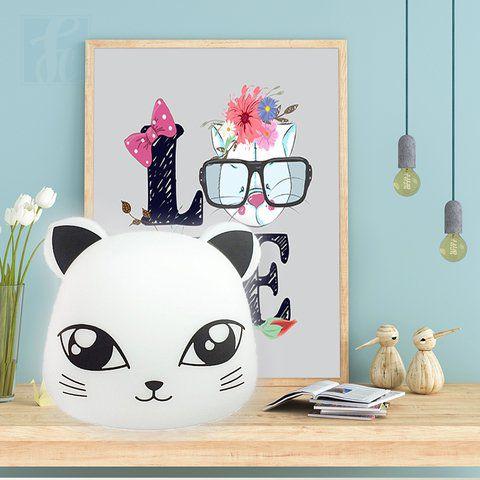 Luminária Decorativa Bivolt Natural Formato Pet - Gato