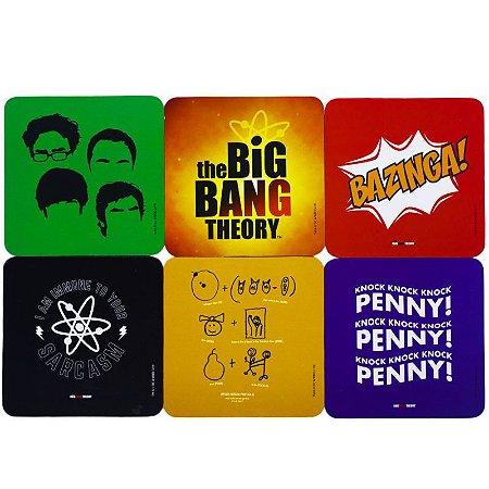 Conjunto c/ 6 Porta Copos The Big Bang Theory