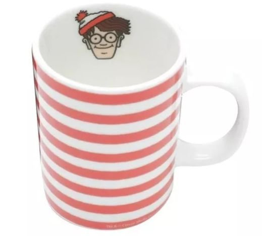 Mini Caneca Porcelana 135ml Onde Está Wally