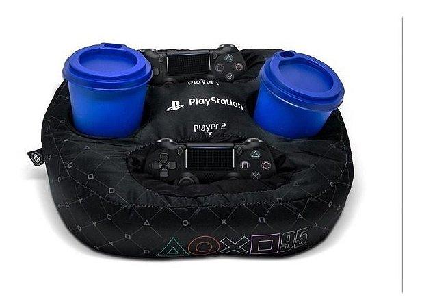 Almofada Porta Controle e Copos - Playstation