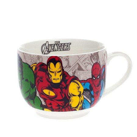 Caneca Bowl Sopa Turma de Heróis Marvel