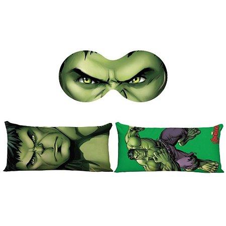 Kit Almofada + Máscara de Dormir Hulk - Marvel