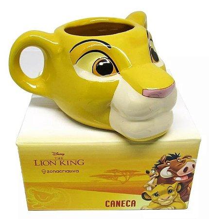 Caneca 3D 350ml Simba O Rei Leão