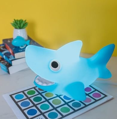 Luminária Bivolt Tubarão Azul