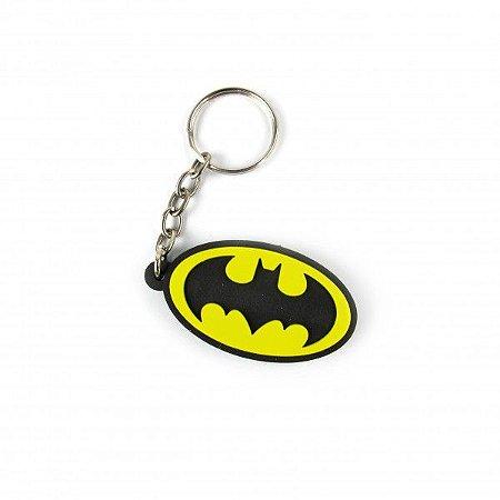 Chaveiro Emborrachado Logo Batman