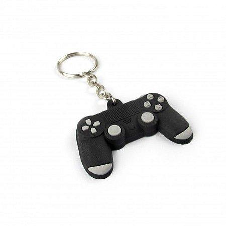 Chaveiro Emborrachado Controle PS4 Preto