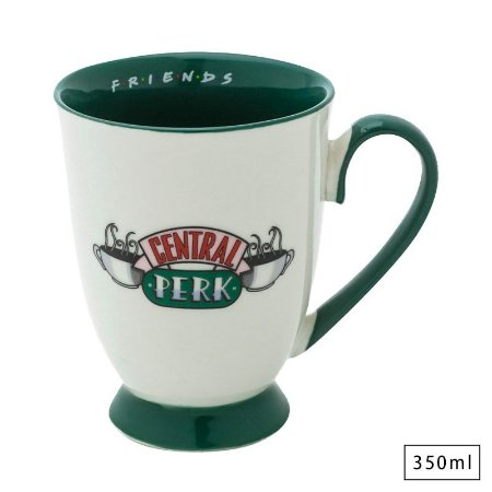 Caneca Porcelana Estilo Rococó 350ml Central Perk - Friends