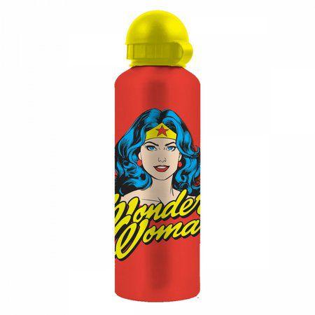 Garrafa Squeeze Alumínio 500ml Mulher Maravilha Face - DC comics