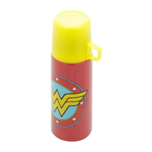 Garrafa Térmica Inox 350ml Mulher Maravilha Logo - DC Comics