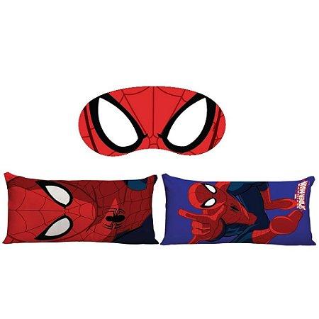 Kit Almofada + Máscara de Dormir Homem Aranha - Marvel