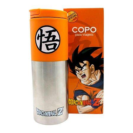 Copo Viagem com Tampa 500ml Goku Simbolo - Dragon Ball Z