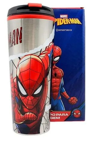 Copo Viagem com Tampa 450ml Spiderman HQ - Marvel