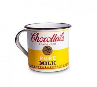 Caneca Esmaltada M Chocollats Pure Milk Amarela