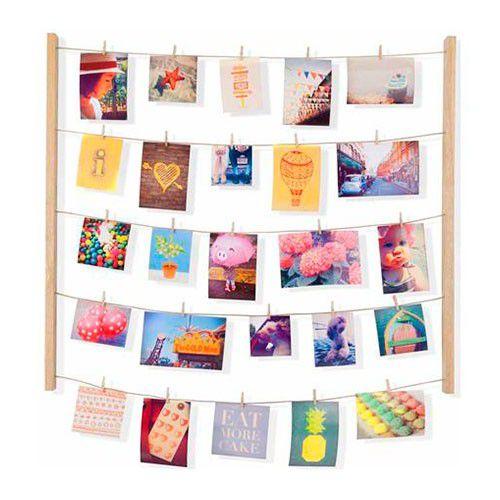 Porta Retrato / Varal de Fotos 40 Clips Hangit Natural - Umbra