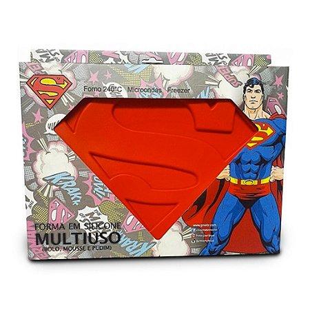 Forma para Bolo Chocolate Superman Logo - DC Comics