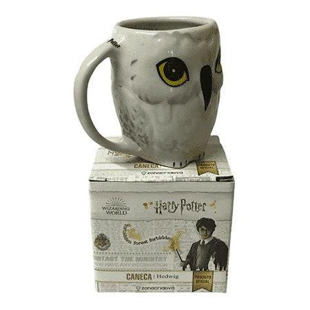 Caneca Porcelana 3D 250ml Edwiges - Harry Potter