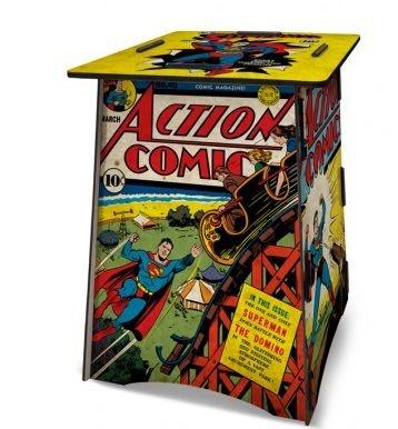 Banco / Mesa MDF Superman Covers - DC Comics